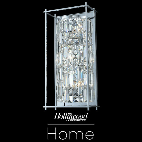 The Hollywood Reporter Joni Chrome Nine-Inch Three-Light Wall Sconce with Firenze Crystal, image 1