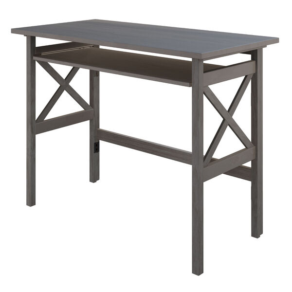 Xander Oyster Gray Foldable Desk, image 1