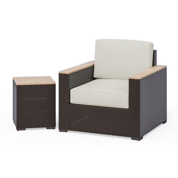 Palm Springs Brown Two-Piece Outdoor Furniture Set, image 1