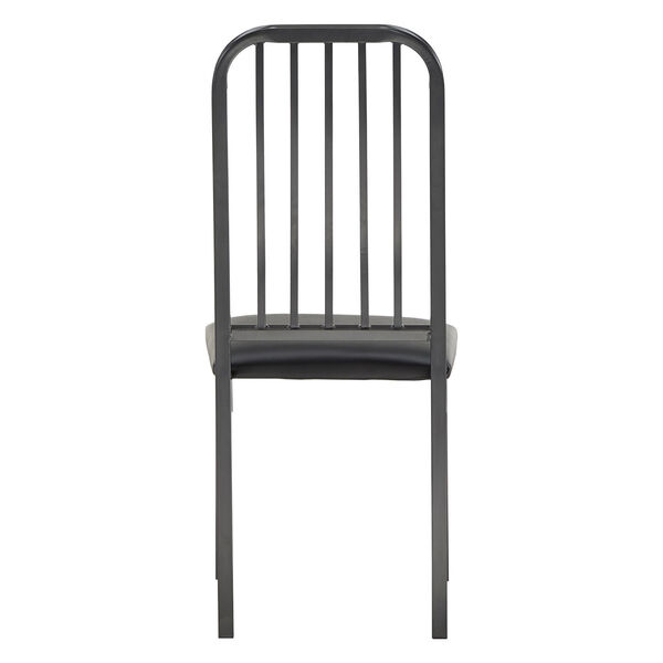 Thomas Black Leather Dining Chair, Set of Two, image 4