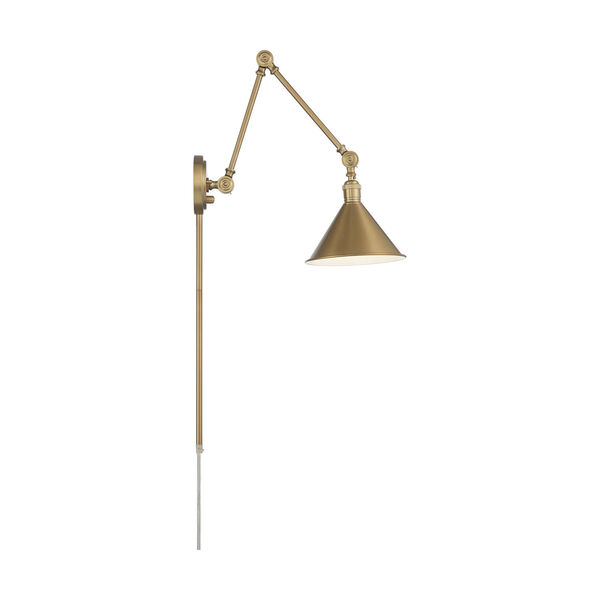 Delancey Brass Polished One-Light Adjustable Swing Arm Wall Sconce, image 4