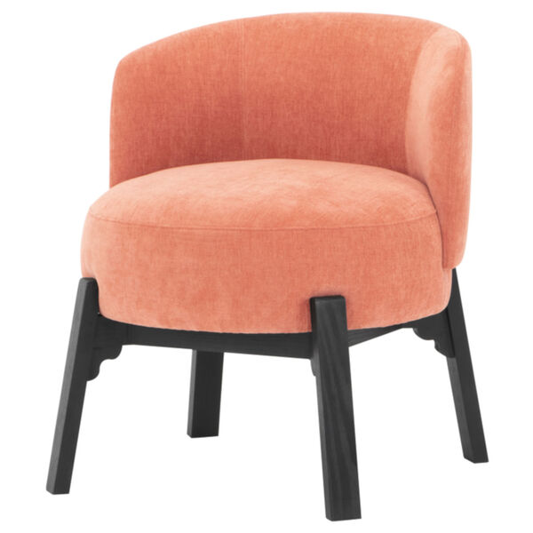 Adelaide Nectarine and Black Dining Chair, image 1