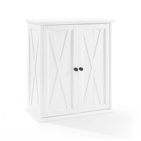 Clifton Distressed White Stackable Kitchen Pantry, image 4