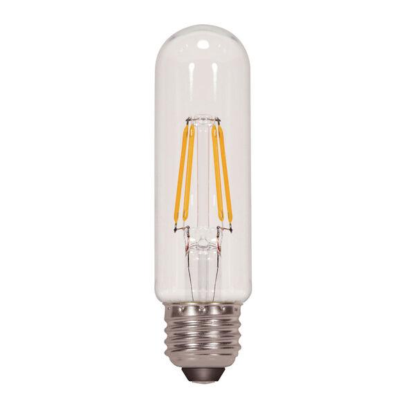 SATCO Clear LED T10 Medium 4.5 Watt LED Filament Bulb with 2700K 430 Lumens 80 CRI and 360 Degrees Beam, image 1