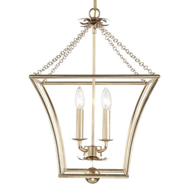 Broche Antique Gold Four-Light Pendant, image 4
