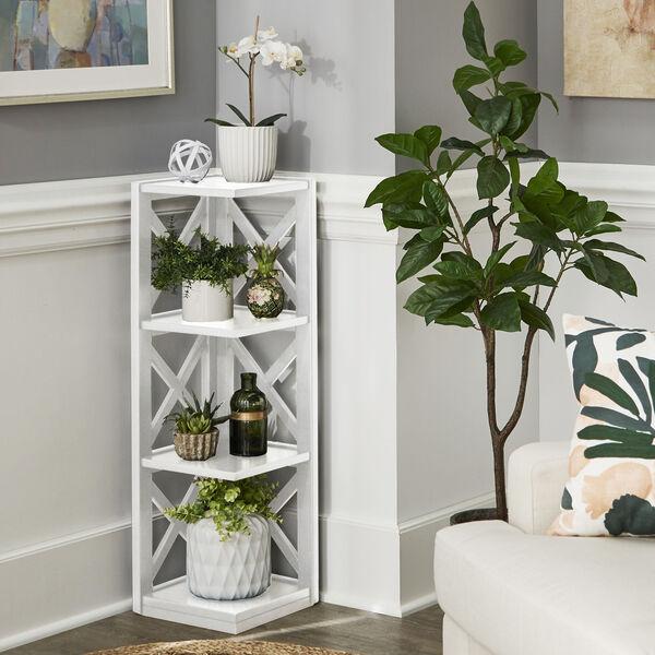 Tanya White X-Frame Three-Shelve Bookcase, image 6
