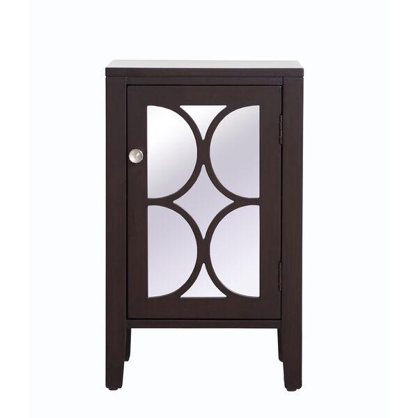 Modern Dark Walnut 18-Inch Cabinet, image 1