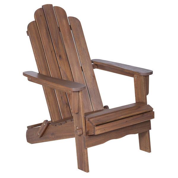 Acacia Adirondack Chair - Dark Brown, image 2