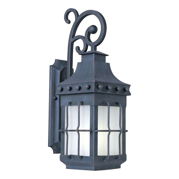 Nantucket EE Fluorescent Country Forge One-Light Outdoor Wall Mount, image 1