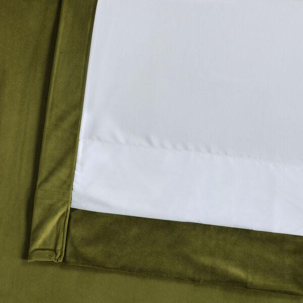 Green 96 x 50 In. Plush Velvet Curtain Single Panel, image 6