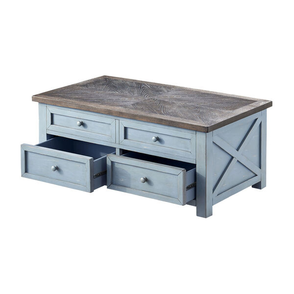 Bar Harbor Blue 46-Inch Cocktail Table, image 4