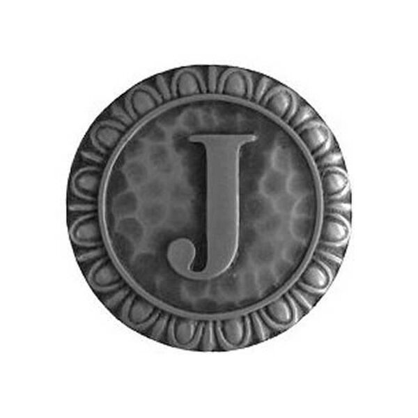Antique Pewter 'J' Knob , image 1