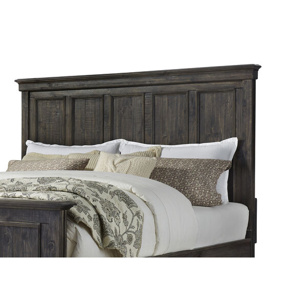 Calistoga King Panel Bed in Weathered Charcoal, image 5