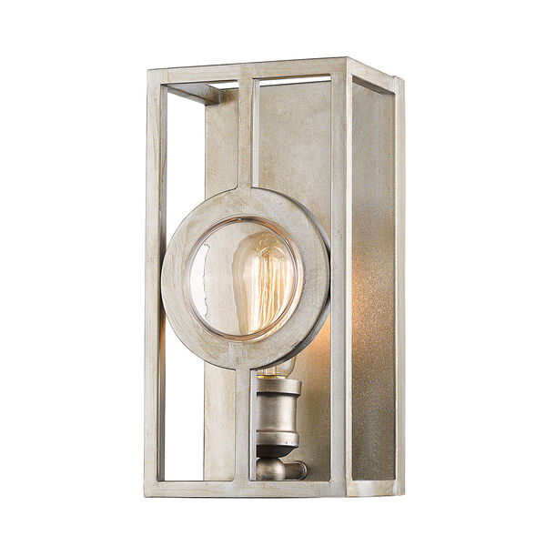 Port Antique Silver 6-Inch One-Light Wall Sconce, image 1