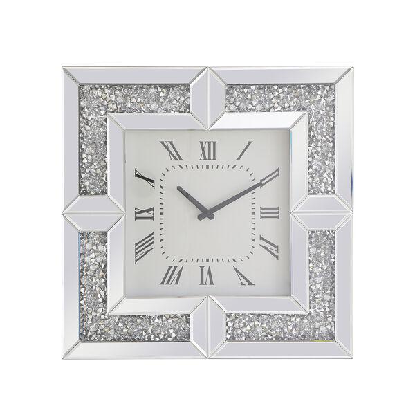 Modern Mirrored 10-Inch Crystal Wall Clock, image 2