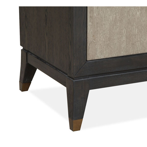 Ryker Nocturn Black and Coventry Gray Double Drawer Dresser, image 4