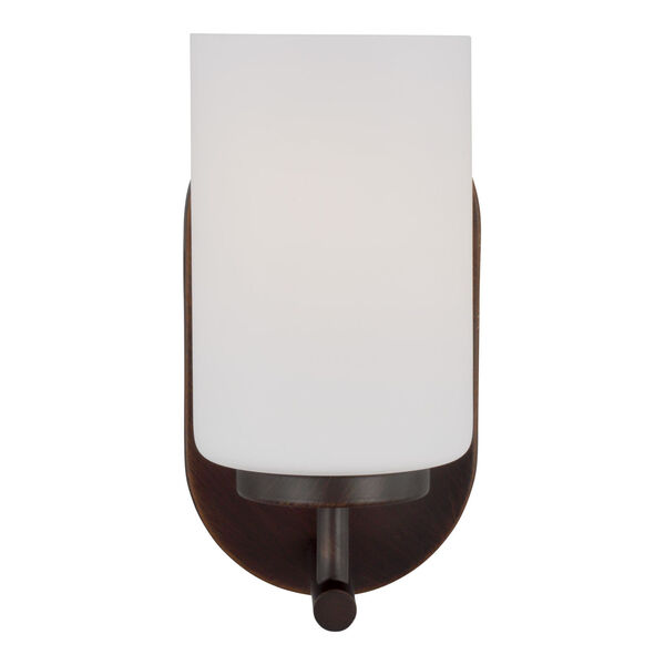 Oslo Bronze One-Light Bath Vanity with Cased Opal Etched Shade Energy Star, image 1