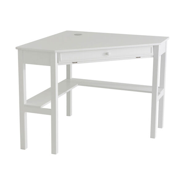 White Corner Computer Desk, image 2