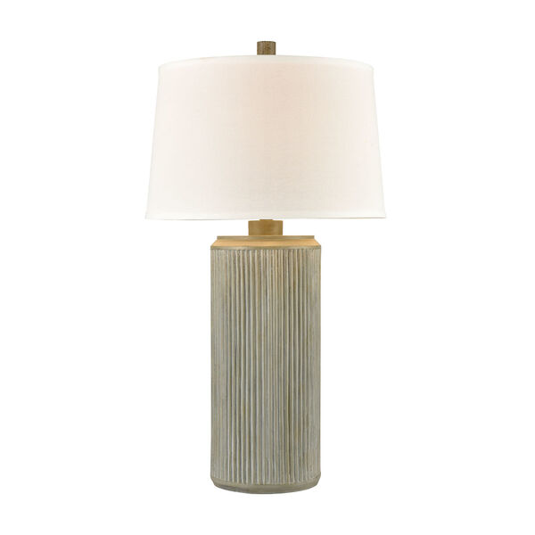 Fabrello Gray Polished Concrete One-Light Table Lamp, image 1