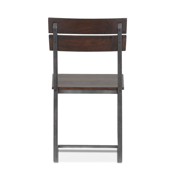 Augusta Dark Brown and Gray Dining Chair, Set of 2, image 5
