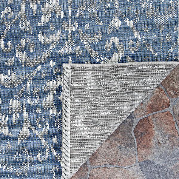 Marseille St. Marcel Blue Rectangular: 7 Ft. 6 In. x 10 Ft. 9 In. Indoor/Outdoor Rug, image 2