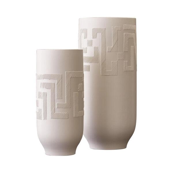 Studio A Home Matte White Small Chaco Vase, image 6