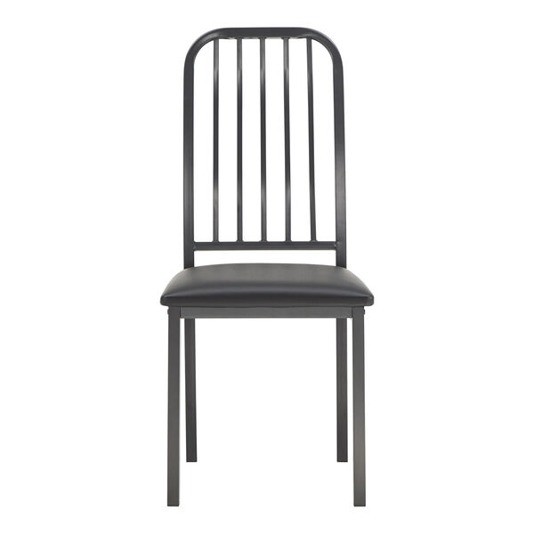 Thomas Black Leather Dining Chair, Set of Two, image 2