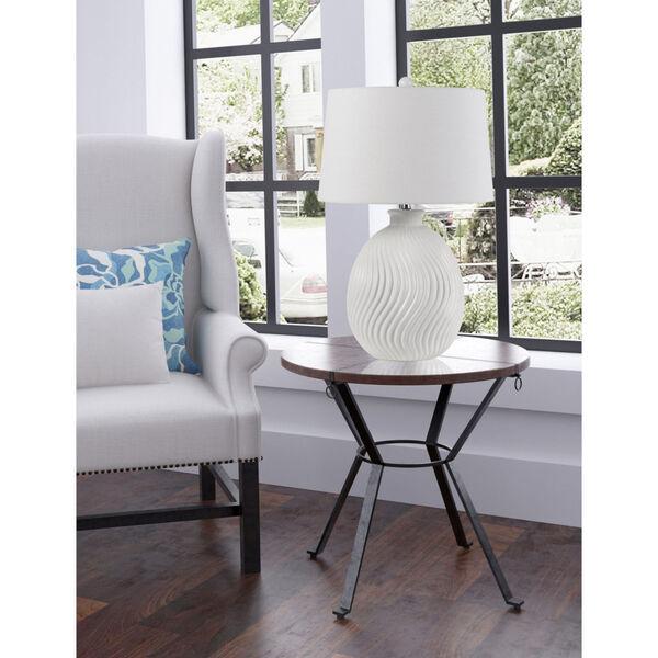 Olbia Milky White One-Light Table Lamp, image 2