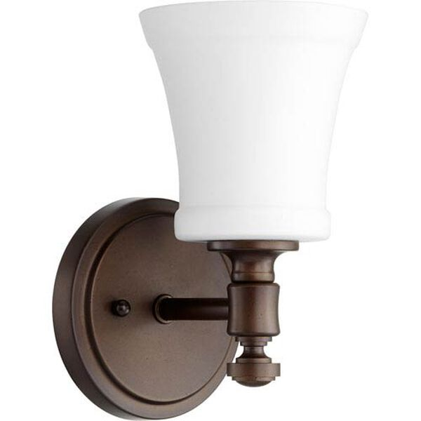 Atherton Oiled Bronze with Satin Opal One-Light Wall Sconce, image 1