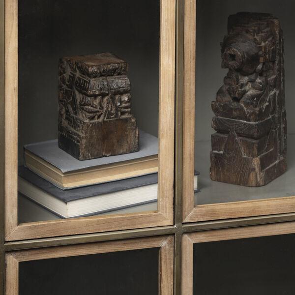 Pandora II Brown Door Display Cabinet, image 5