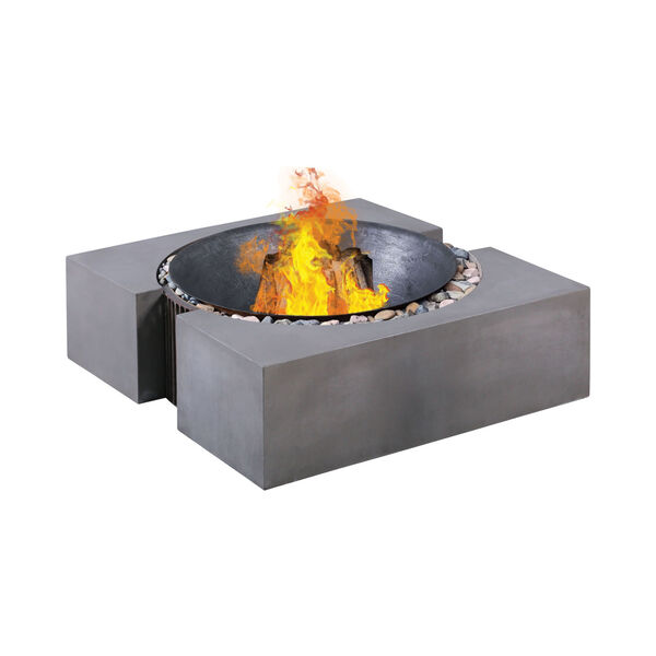 Volcano Polished Concrete Outdoor Fire Pit, image 1