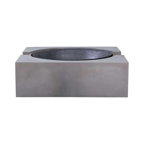 Volcano Polished Concrete Outdoor Fire Pit, image 4