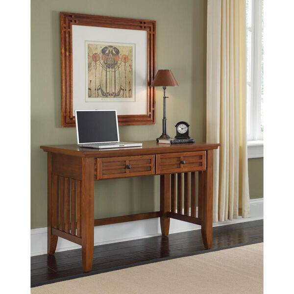 Arts and Crafts Cottage Oak Student Desk, image 1