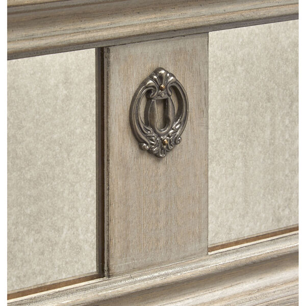 Jocelyn Weathered Taupe Drawer Dresser with Removable Mirror, image 6