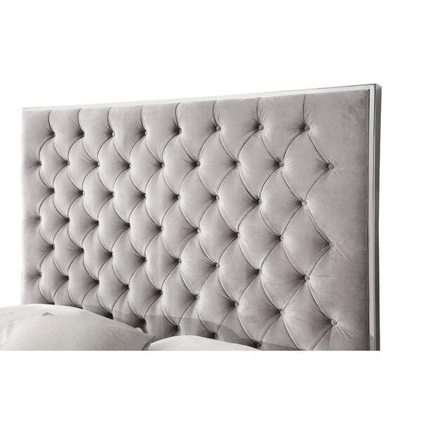 Vivian Gray Upholstered Queen Bed, image 5