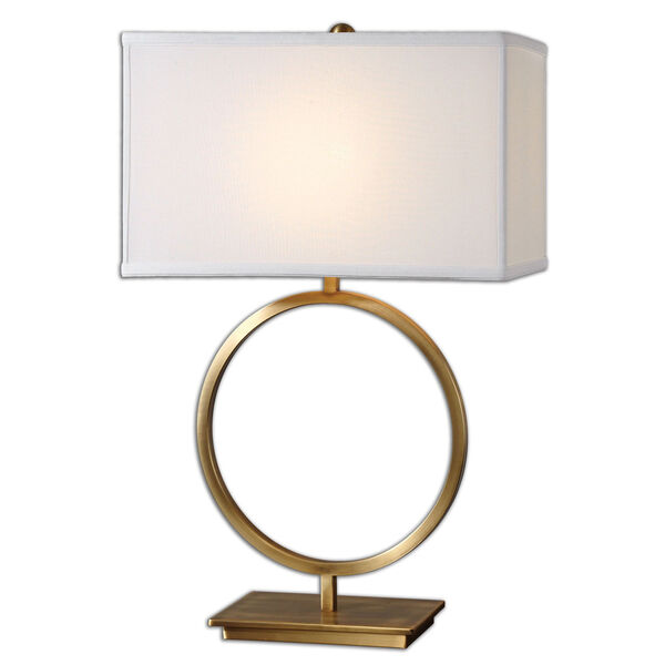 Duara Brushed Brass One-Light Table Lamp, image 1