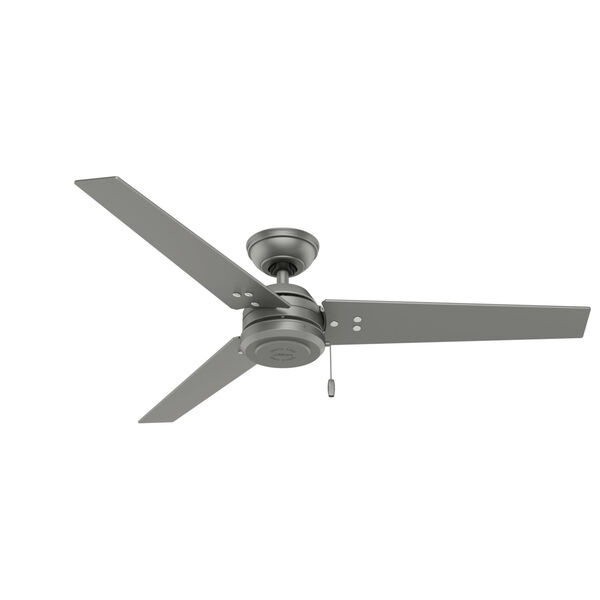 Cassius Matte Silver 52-Inch Outdoor Ceiling Fan, image 1