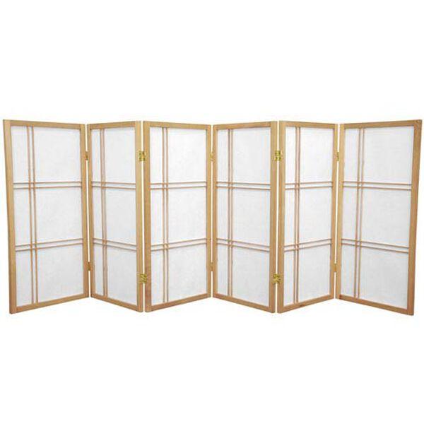 Three Ft. Tall Double Cross Shoji Screen, Width - 105 Inches, image 1