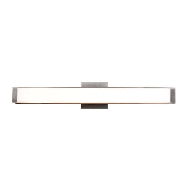 Fjord Brushed Steel 26-Inch LED Bath Bar Vanity, image 1