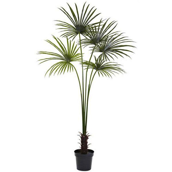 Green 7 Foot Fan Palm Tree, image 1