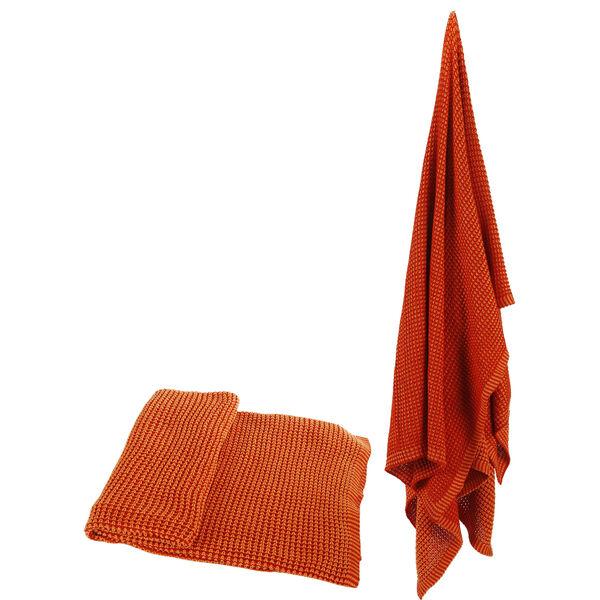 Florence de Dampierre by AB Home Orange Cotton Throw, image 1