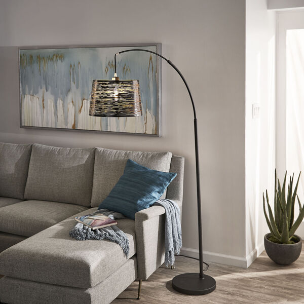 Quinn Black One-Light Arched Floor Lamp, image 5