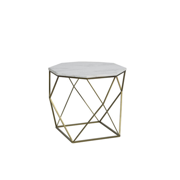 Kristie Volakas Marble And Dark Bronze End Table, image 2