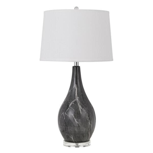 Emden Black and White One-Light Table lamp, image 1