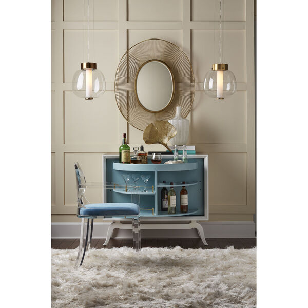 White and Gold 35-Inch Luton Mirror, image 6