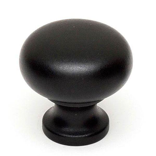 Matte Black Brass 7/8-Inch Knob, image 1