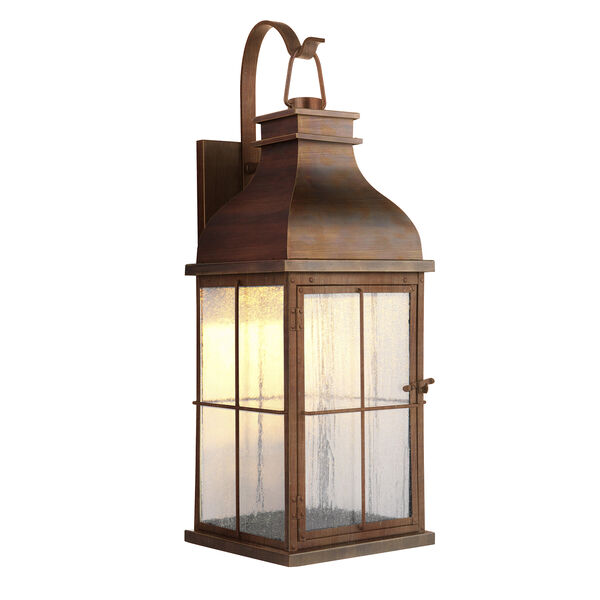 Vincent Weathered Copper LED Outdoor Wall Lantern, image 2