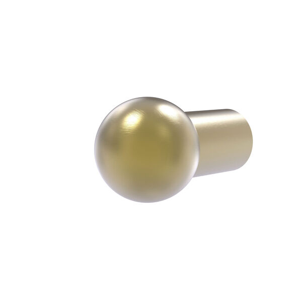 Satin Brass One-Inch Cabinet Knob, image 1