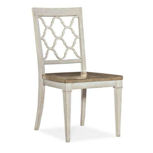 Montebello Danish White and Carob Brown Side Chair, image 1