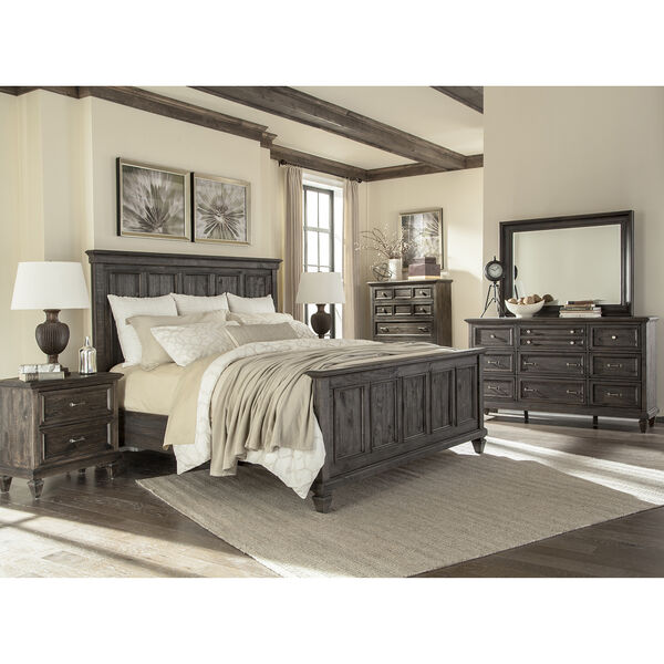 Calistoga King Panel Bed in Weathered Charcoal, image 3